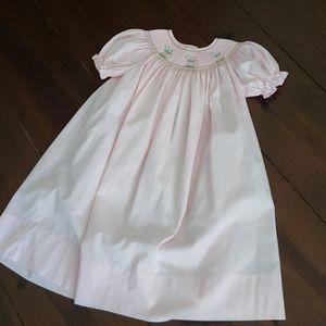Rosalina sz 6 years Smocked Bishop Dress